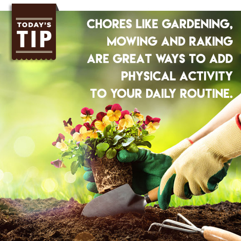Chores add physical activity to your day