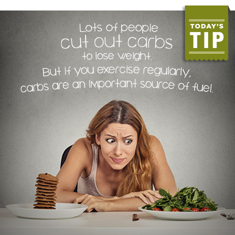 Utilize carbs in your exercise routine